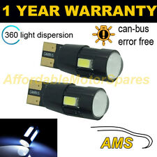 2X W5W T10 501 CANBUS ERROR FREE WHITE 6 SMD LED SIDELIGHT BULBS BRIGHT SL104201