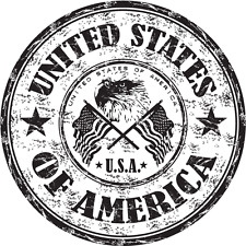 "United States of America Eagle USA Travel Car Bumper Sticker Decal 5"" x 5"""