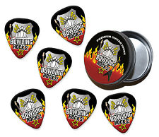 Ten Pin Bowling Rocks 6 X Guitar Picks Plectrums In Tin (R1)