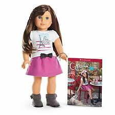 American Girl LE GRACES DOLL & BOOK Paris Chef Clothes Skirt Limited NEW-3*