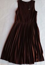NWT Theory Brown Wool Blend Lined Sleeveless Made in USA Dress Size 8 $395