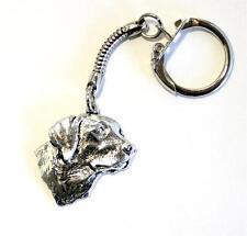 Labrador Dog's Head Key-Ring (keychain) in Fine English Pewter, Handmade (th-L)