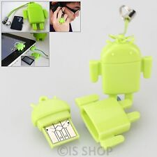 USB 2.0 Android Robot Micro SD SDHC M2 TF MMC Memory Card Reader For Laptop PC
