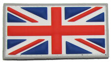 BRITISH FLAG UK GREAT BRITAIN UNION JACK COLOR 3D PVC MILITARY BADGE PATCH