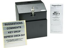 Safco 4232BL Steel Suggestion/Key Drop Box with Locking Top, 7 x 6 x 8-1/2