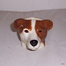 QUAIL Smooth Jack Russell Brn & W Faced Egg Cup NEW