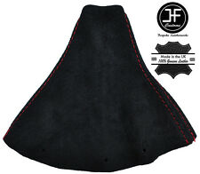 RED STITCH FITS AUDI TT COUPE 1996-2002 BLACK SUEDE GEAR GAITER COVER