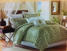 Tommy Bahama Grand Banyan Bamboo Queen Size Comforter Set - 4 Pieces- New