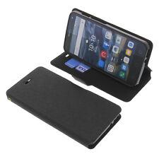 Tasche für Alcatel One Touch Pop 4 Book-Style Schutz Hülle Handytasche Schwarz