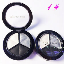 Eyeshadow Make Up Natural Smoky Cosmetic Eye Shadow 3 Colors Palette #1 Set