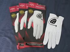 3 CALLAWAY DAWN PATROL LEATHER GOLF GLOVES SIZE MEDIUM 3 NEW MENS