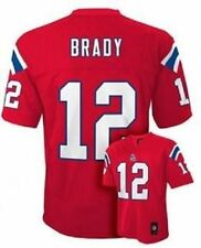 Tom Brady New England Patriots Size Kids 7 Red NFL 2016-17 Alternate Jersey $45