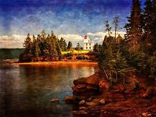 ART PRINT POSTER PHOTO LANDSCAPE LIGHTHOUSE FOREST SHORE LAKE SEA TREES LFMP0529