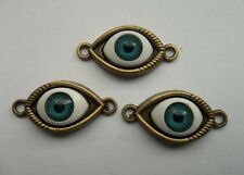 20pcs bronze plated eye charms connector 15x30  mm