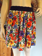 WoW STRADIVARIUS by ZARA Skirt, Mini Summer, Bright Floral Print, Size M