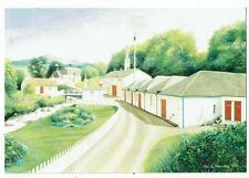 POST CARDS SCOTLAND EDRADOUR DISTILLERY, PITLOCHRY ART CARD BY MICK HANKEY