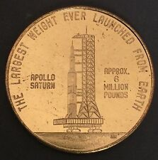 Apollo Saturn Rocket Kennedy Space Center Florida Coin Medal NASA Space