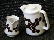 notNeutral Poland Porcelain Links Pattern Coffee Tea Pot & Creamer Set