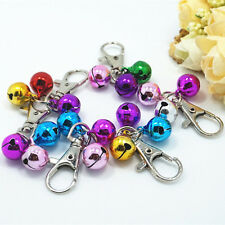 Metal Pet Dog Cat Puppy Charms Jingle Bells with Clips for Necklace Collars JM