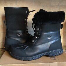 UGG Butte Black Waterproof Leather Sheepskin eVent Snow Boots US 11 Mens 5521