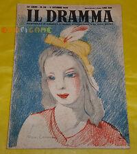 IL DRAMMA 1950 n. 118 - Copertina Marie Laurencin - Opere: vedi inserzione