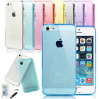 Ultra Thin Transparent Crystal Clear Soft Gel Case for iPhone 5 / 5S