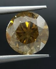 2.77 Carat Huge Natural Color Brown Diamond Cognac Champagne Color Real Image