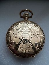 Waltham pocket watch / pendant (14k solid gold Hunter case) 1896