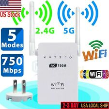 AC02 Wifi 750Mbps Range US Plug WiFi Repeater Router Wireless Extender Booster
