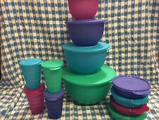 TUPPERWARE IMPRESSIONS KRAZY 12~Pc. SET~SPRING COLORS!! NEW