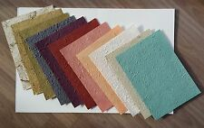 22 pcs.Mulberry Paper 11 color handmade rough texture for Craft, Card, Scrapbook