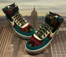 Nike iD Womens Air Force 1 High Premium Pendleton Size 6 Low Mid 839568 901 Wmns