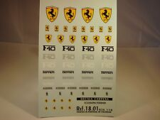 DECALS 1/18 ECUSSONS FERRARI - CARPENA  1801