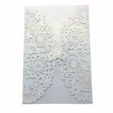 10pcs Personalized Laser Cut Printing Wedding Invitation Cards with Envelope