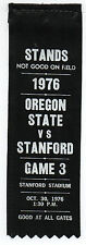 1976 College Football Ribbon Stanford University vs Oregon State
