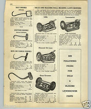 1952 PAPER AD Dille & McGuire Grass Groomer Lawnmaster Glide Diamond Lawn Mower