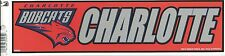 CHARLOTTE BOBCATS NBA LICENSED BUMPER STICKER NEW