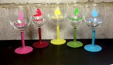Personalised Character Wine Glasses With Glittered Stem, Disney, Pixar