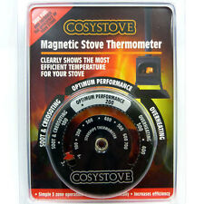 COSYSTOVE® HEAT POWERED STOVE FAN MAGNETIC STOVE THERMOMETER, Log / Wood Burner