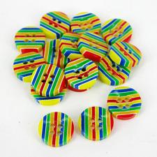 Orgullo Gay Arcoiris Rayas 4 agujero de costura de resina Botones Redondos 12 Mm 36