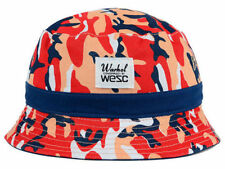 RARE ANDY WARHOL RED WHITE MELON NAVY CAMO BUCKET CAP HAT LID SIZE S/M