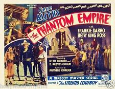 GENE AUTRY In is 1st Starring Role THE PHANTOM EMPIRE 11x14 TC Print 1935