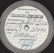 Reichsrundfunk Platte von 1936 mit Publikumsgeräuschen Sportereigniss oder Demon