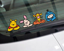Cute funny Winnie the Pooh Windows windshield rear bumper Car Stickers Decalst98