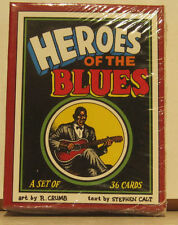 "R. Crumb ""Heroes of The Blues"" Set of 36 Cards - Brand New Set SEALED"