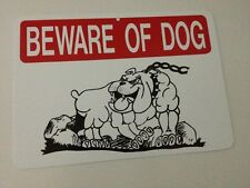 Beware Of Dog Funny Gift PVC  Street Sign bar man cave 8.5 x12