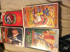 Beauty And The Beast The Enchanted Christmas Vhs,Night Before Christmas,Scrooge,