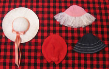 "1964 Mattel~JAPAN~JUNIOR FASHION ""HAT""PAK~SKIPPER & SKOOTER~4 Mint Asst.Hats~NEW"