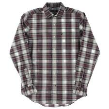 Nautica 7498 Mens Multi Plaid Long Sleeves Pocket Button-Down Shirt S BHFO