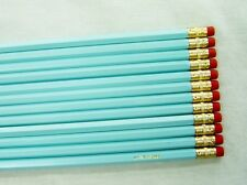 "24 Hexagon ""Pastel Blue"" Personalized Pencils"